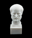 Escultura grega de Aristotle do filósofo Imagem de Stock