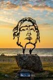 Escultura hermosa de Alexander el grande en Asprovalta, Grecia imágenes de archivo libres de regalías