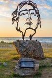 Escultura hermosa de Alexander el grande en Asprovalta, Grecia foto de archivo