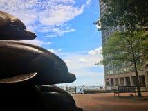 Escultura hermosa en Boston Foto de archivo
