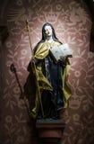 Escultura hermosa en iglesia vieja Fotos de archivo libres de regalías