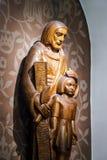 Escultura hermosa en iglesia vieja Fotos de archivo