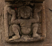 Escultura hindú de la diosa Fotos de archivo libres de regalías