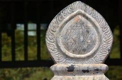 Escultura hindu do sinal Imagem de Stock Royalty Free