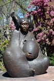 Escultura indiana da mulher imagens de stock