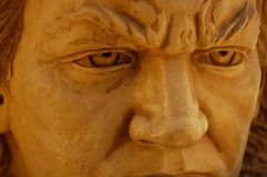Escultura intensa dos olhos das estátuas de pedra de Beethoven Imagens de Stock