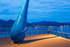 Escultura intitulada 'a gota ', Vancôver, Columbia Britânica, Canadá fotos de stock