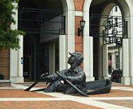 A escultura Knoxville do remador, Tennessee fotos de stock royalty free