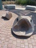 Escultura larga dos peixes da boca Fotografia de Stock