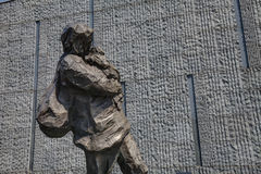 Escultura, mãe de fuga do bebê Fotos de Stock