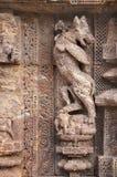 Escultura mítica de la bestia en el templo de Sun, Konark Fotos de archivo