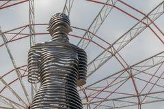 Escultura móvil 'Ali y Nino 'en Batumi imagen de archivo