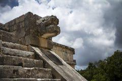 Escultura maia Fotos de Stock Royalty Free