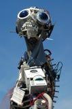 Escultura material eléctrica desechada hombre de Weee Imágenes de archivo libres de regalías
