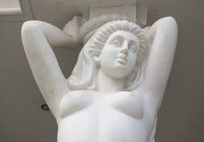 Escultura medieval de um anjo da mulher Imagem de Stock Royalty Free