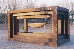 Escultura memorável olímpica em Peking fotos de stock royalty free