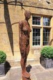 Escultura moderna da mulher, Broadwya Fotos de Stock Royalty Free