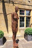 Escultura moderna de la mujer, Broadwya Fotos de archivo libres de regalías