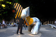 Escultura moderna do metal Foto de Stock