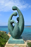 Escultura moderna em Caesarea Maritima, Israel Imagens de Stock