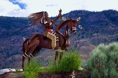 Escultura nativa en el lago Osoyoos, Columbia Británica, Canadá Fotos de archivo libres de regalías