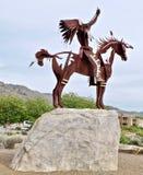 Escultura nativa no lago Osoyoos, Columbia Britânica, Canadá imagens de stock royalty free
