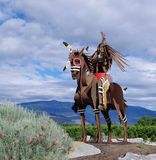 Escultura nativa no lago Osoyoos, Columbia Britânica, Canadá Foto de Stock