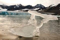 Escultura natural - 14 de julio glaciar - Svalbard Foto de archivo