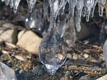 Escultura natural del hielo Imagenes de archivo