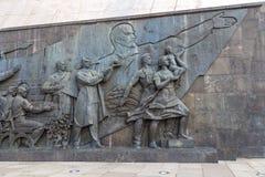 Escultura no monumento aos conquistadores do espaço, Moscou, Rússia imagem de stock