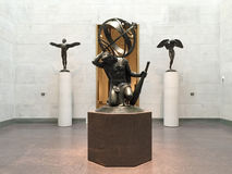 Escultura no museu de belas artes Houston fotografia de stock royalty free
