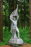 Escultura no parque de Grutas perto da cidade de Druskininkai Fotos de Stock