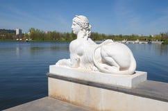 Escultura no parque Tsaritsyno, Moscou, Rússia imagens de stock royalty free