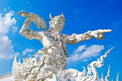 Escultura no rongkhun do wat Imagem de Stock