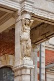 Escultura no solar abandonado de Bykovo imagem de stock