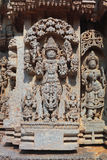 Escultura no templo de Somnathpur, Mysore Imagem de Stock