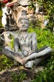Escultura no templo de Wat Pho Imagens de Stock