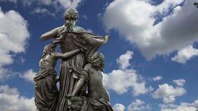 Escultura no terraço de Bruhl, um conjunto arquitetónico histórico em Dresden, Alemanha video estoque