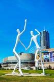 A escultura pública dos dançarinos em Denver Fotografia de Stock