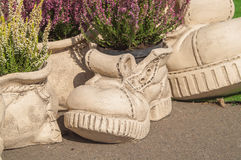 Escultura para el jardín de la arcilla Foto de archivo libre de regalías