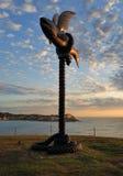 Escultura pelo mar - peixe de voo Imagem de Stock