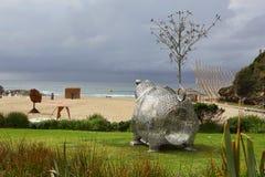 Escultura pelo mar - porco de Fotrune 2 Fotografia de Stock