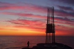 Escultura pelo mar - salvar nossas almas Fotografia de Stock Royalty Free