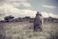 Escultura polovtsian antiga da paisagem do vintage Foto de Stock Royalty Free