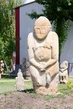 Escultura polovtsian de pedra no parque-museu de Lugansk, Ucrânia imagem de stock royalty free