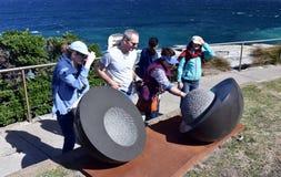 Escultura por el mar en Bondi Imágenes de archivo libres de regalías