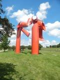 Escultura redonda del metal Fotografía de archivo libre de regalías