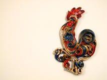 Escultura retra del gallo Foto de archivo libre de regalías