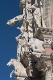 Escultura Siena Cathedral de la fachada Fotografía de archivo