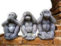 Escultura tailandesa del estilo del mono del árbol Imagen de archivo libre de regalías